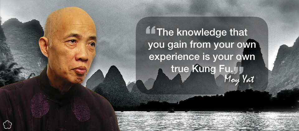 The knowledge that you gain from your own experience is your own true Kung Fu.