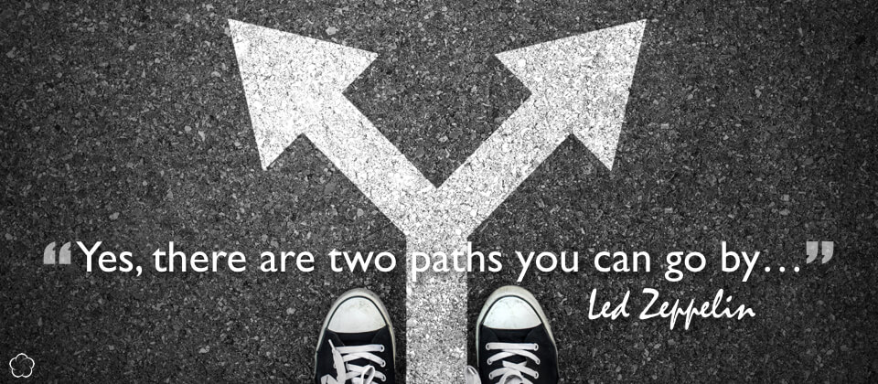 Yes, there are two paths you can go by...