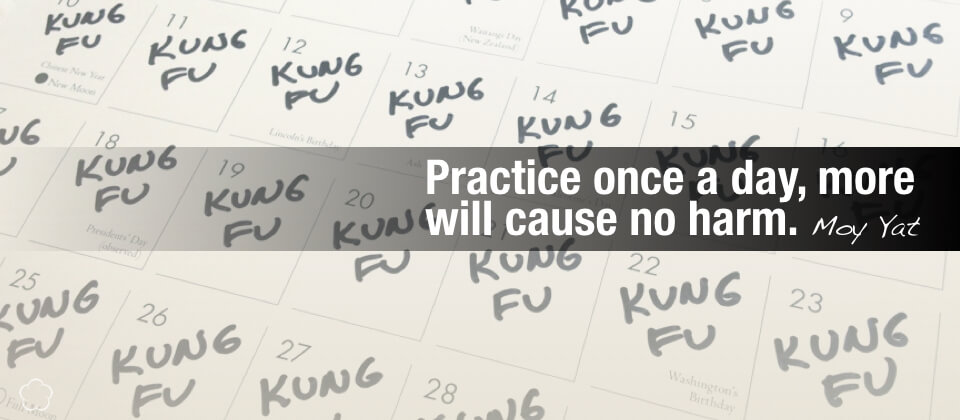 Practice once a day, more will cause no harm.
